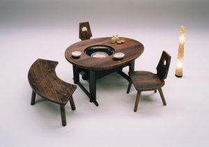 桐の囲炉裏(いろり)テーブル