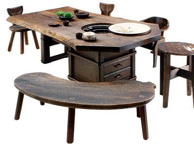 焼桐天然無垢囲炉裏テーブル